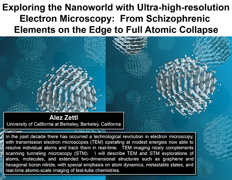 Plenary: EXPLORING THE NANOWORLD WITH ULTRA-HIGH-RESOLUTION ELECTRON MICROSCOPY: FROM SCHIZOPHRENIC ELEMENTS ON THE EDGE TO FULL ATOMIC COLLAPSE