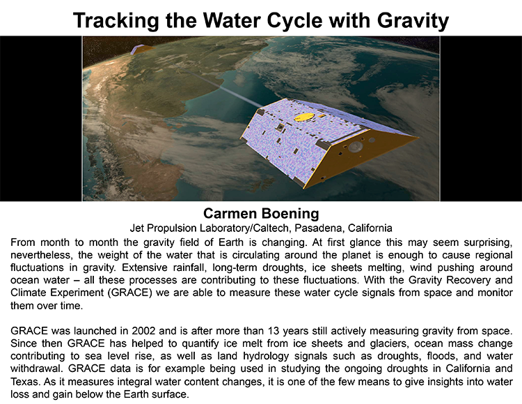 Plenary: TRACKING THE WATER CYCLE WITH GRAVITY